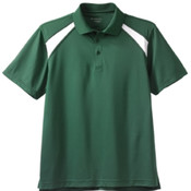 Harriton 4 oz. Men's Polytech Colorblock Polo