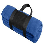 Port Authority - Fleece Blanket with Carrying Strap.