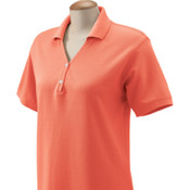 Devon & Jones Ladies'  Pima Piqué Short-Sleeve Y-Collar Polo