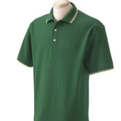 Devon & Jones Men's  Tipped Perfect Pima Interlock Polo