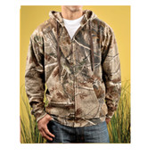 Code V Adult Officially Licensed REALTREE® Camouflage Hooded Zip Front Sweatshirt