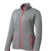 Sport-Tek Ladies Sport-Wick Stretch Contrast Full-Zip Jacket