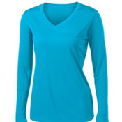 Sport-Tek Ladies Long Sleeve PosiCharge Competitor V-Neck Tee