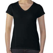 Gildan Ladies' Tech Short-Sleeve V-Neck
