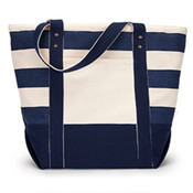 x - Gemline Seaside Zippered Cotton Tote