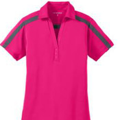 Port Authority Ladies Silk Touch Performance Colorblock Stripe Polo